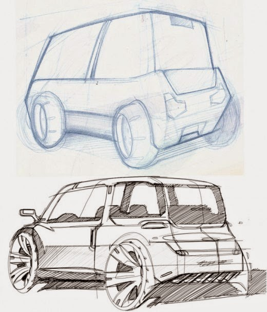 Sketching cars is a matter of exercise! – www.lucianobove.com