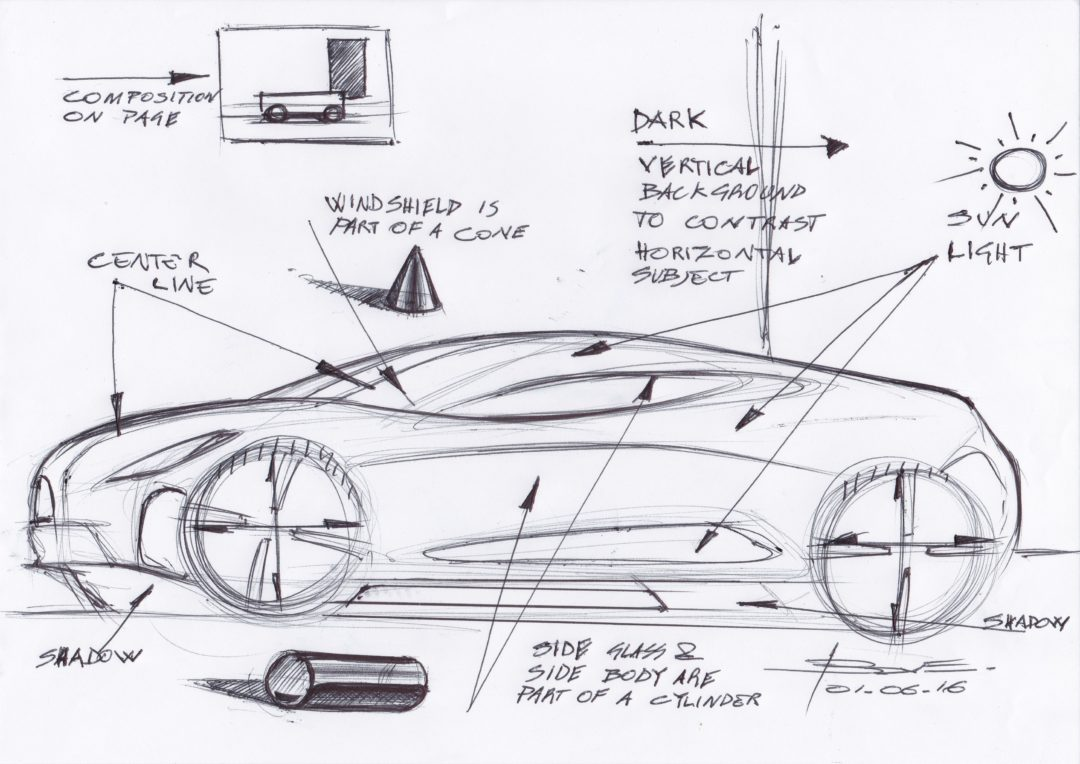 Basic design of a car - Car Sketch Tutorial Using Markers Basic Rules