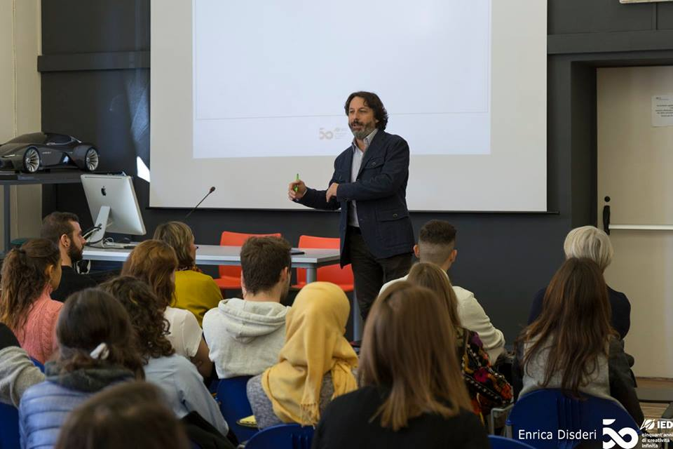 IED Turin Italy - Riccardo Balbo school director welcomes news students
