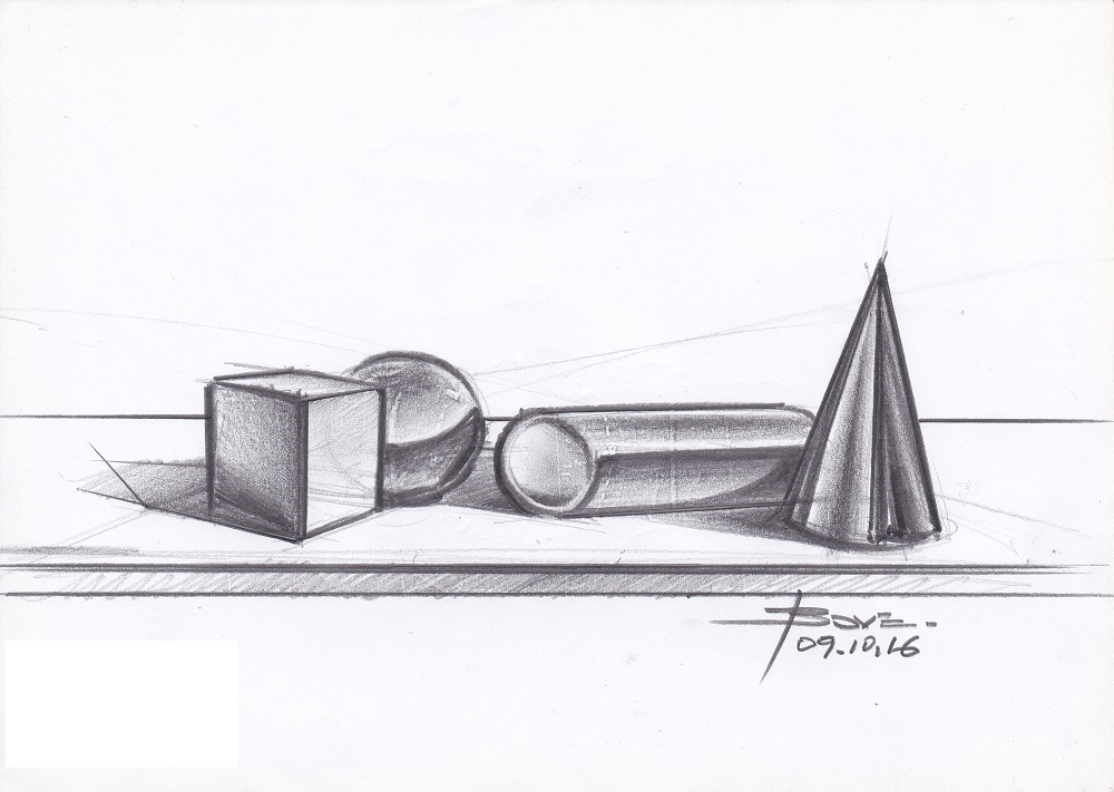 Basic Shapes & Reflections on Car Sketches – www.lucianobove.com