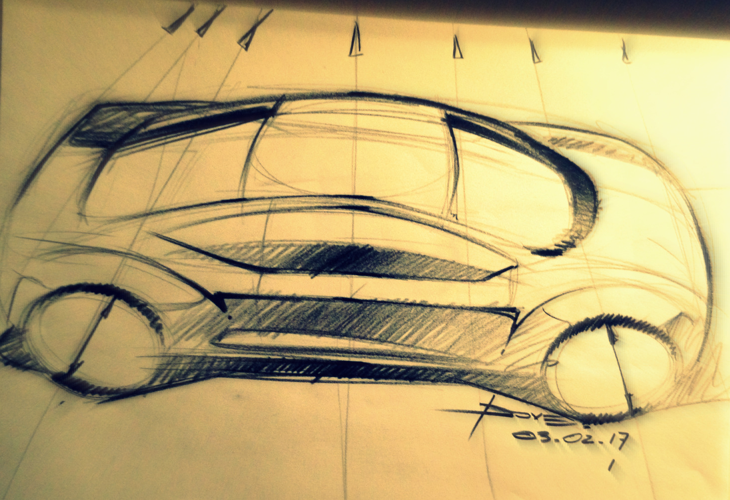 Car Sketch Tutorial Top View Perspective